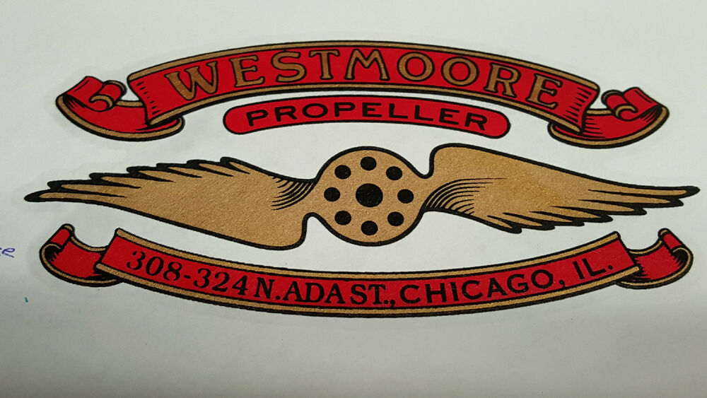 Westmoore Propeller Decal Set Of 2 For Vintage Aircraft