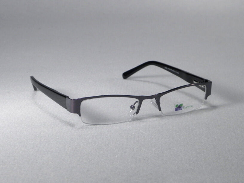 Metal Eyeglass Frame Materials : Eyeglass Frames Glasses Half Rim Men Woman Eyewear Metal ...