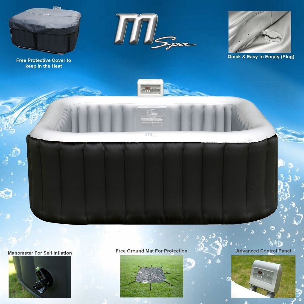 mspa alpine luxury inflatable 2 2 square portable jacuzzi hot tub spa system ebay. Black Bedroom Furniture Sets. Home Design Ideas
