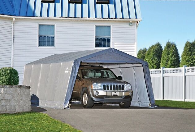 Garage In A Box Shelters : Shelterlogic auto shelter portable garage steel