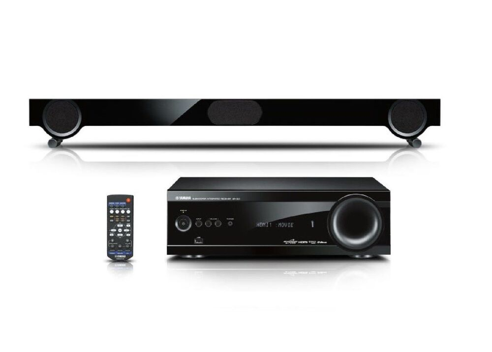 yamaha yht s401 home cinema system sound bar digital projector av receiver hdmi ebay. Black Bedroom Furniture Sets. Home Design Ideas