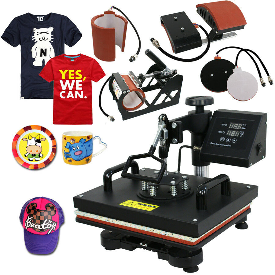 5 In 1 Digital Heat Press Machine Sublimation For T-Shirt ...