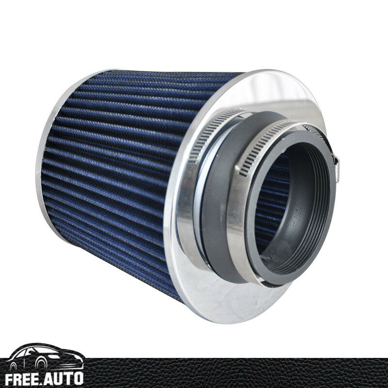 Air Filters For Cars : Universal kn type inch blue air intake filters fit for