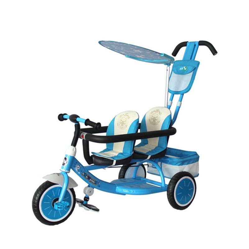 Hot Child Toddler Tricycle Stroller Infant Double Seats
