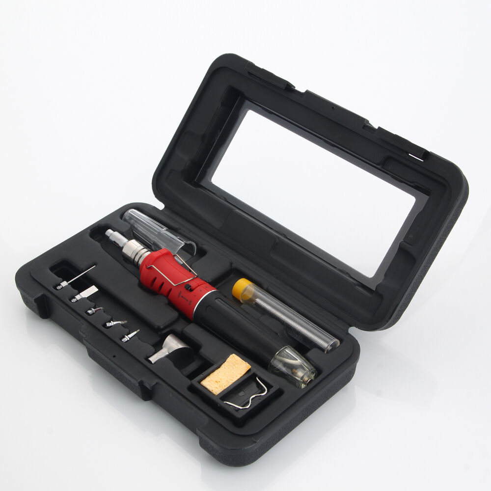 10in1 butane gas blow torch gun solder soldering iron tools kit welding burner ebay. Black Bedroom Furniture Sets. Home Design Ideas