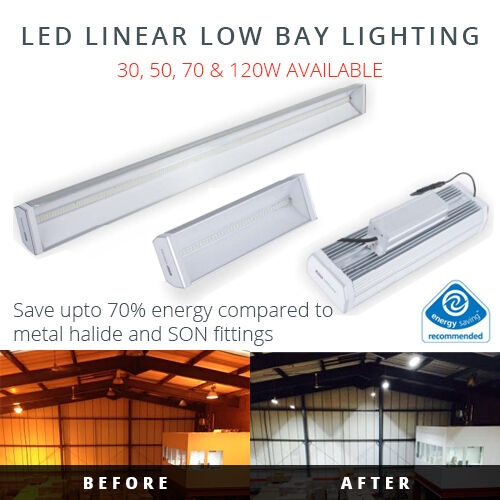 LED LOW BAY LIGHT 30W-120W INDUSTRIAL LIGHTING REPLACEMENT