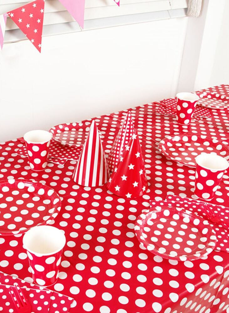 polka dot tablecover birthday wedding party supplies