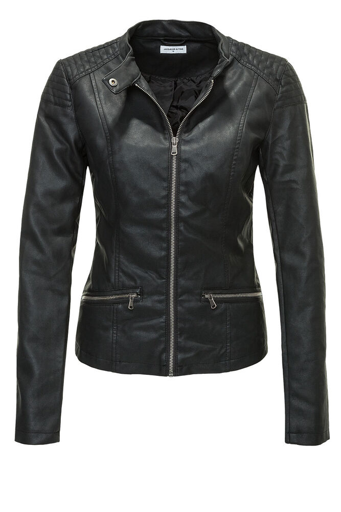 jdy by only damen bikerjacke lederjacke jacke pu leather. Black Bedroom Furniture Sets. Home Design Ideas