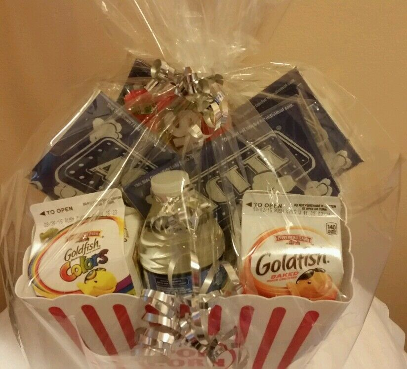 Details About Easter Mothers Dad Day Birthday Teen Graduation Movie Night Popcorn Gift Basket