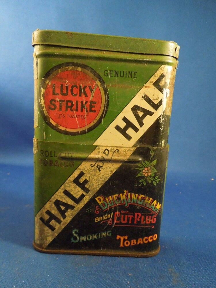 Antique Lucky Strike Half and Half Tobacco Tin For Pipe ...