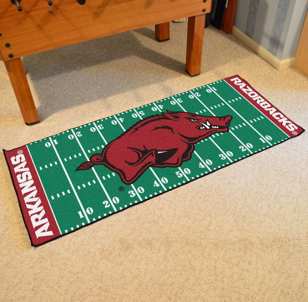 Arkansas Razorbacks NCAA Football Field Runner Man Cave
