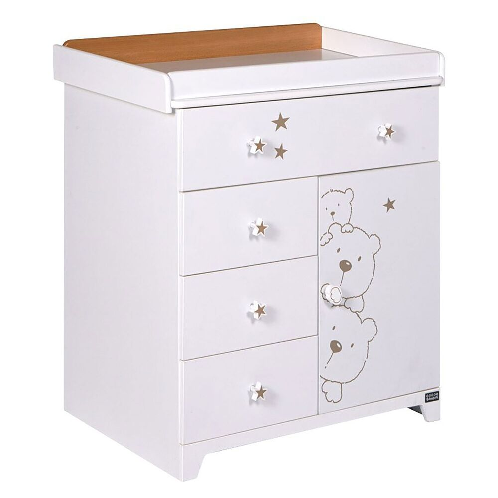 Tutti bambini 3 bears chest drawers baby changer nursery Nursery chest of drawers with changer