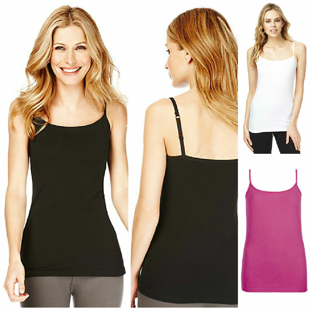 0831068305597c Details about Marks And Spencer M&S Plus Size Scoop Neck Ruched Vest Top UK  12,16,18,20,22,24