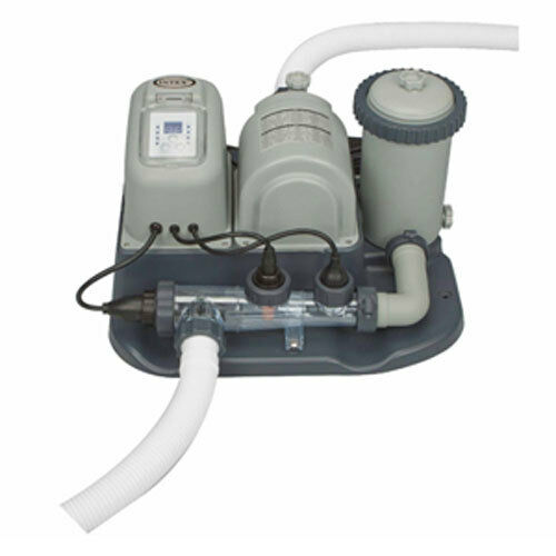 Intex 1200 Gph Pool Cartridge Filter Pump Salt Chlorine