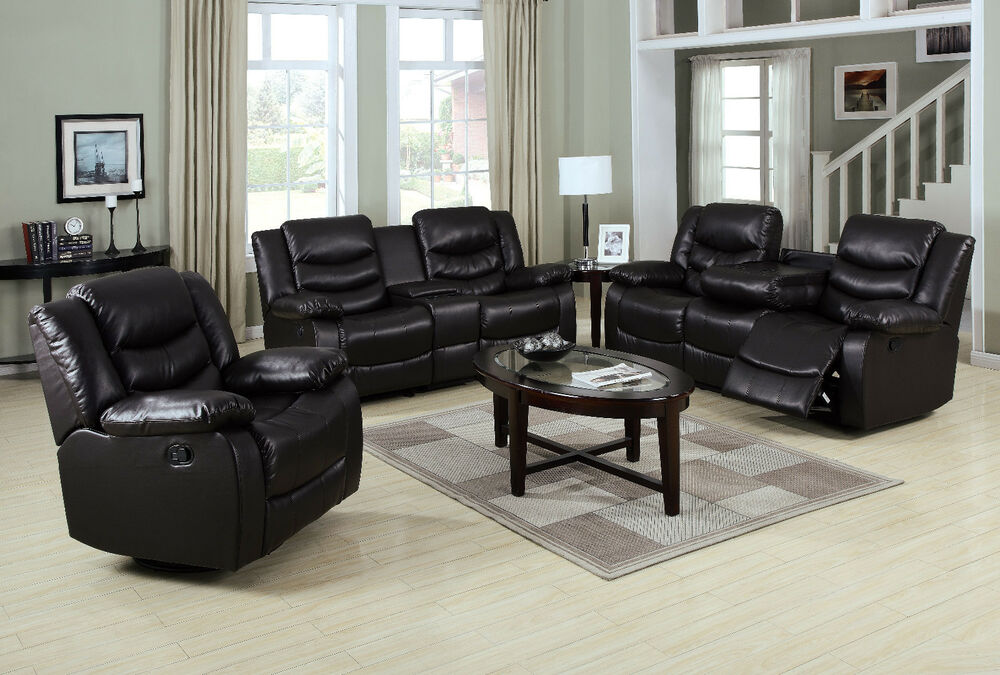 Living Room Motion Sofa Set Espresso Sofa Couch Loveseat