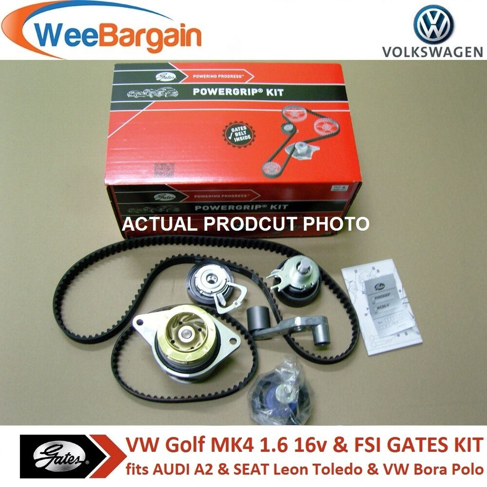 vw golf iv 1 6 16v fsi gates kp25565xs 2 timing cam belt kit with water pump ebay. Black Bedroom Furniture Sets. Home Design Ideas