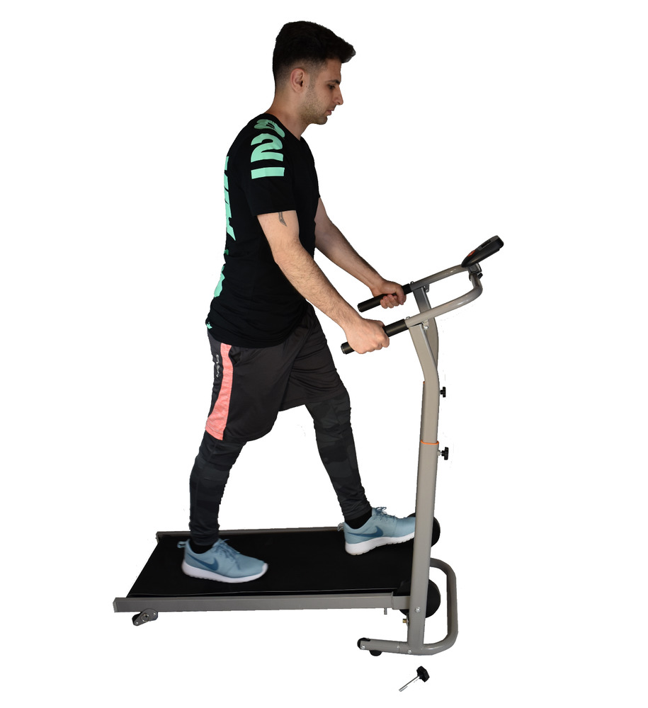 "Manual Treadmill cardio walk run exercise Foldable 22""W 54 ..."