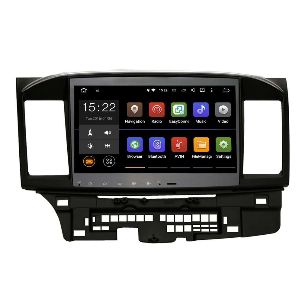 10 2 android 5 1 1 car stereo gps radio for 2008 2013 mitsubishi lancer evo x ebay. Black Bedroom Furniture Sets. Home Design Ideas