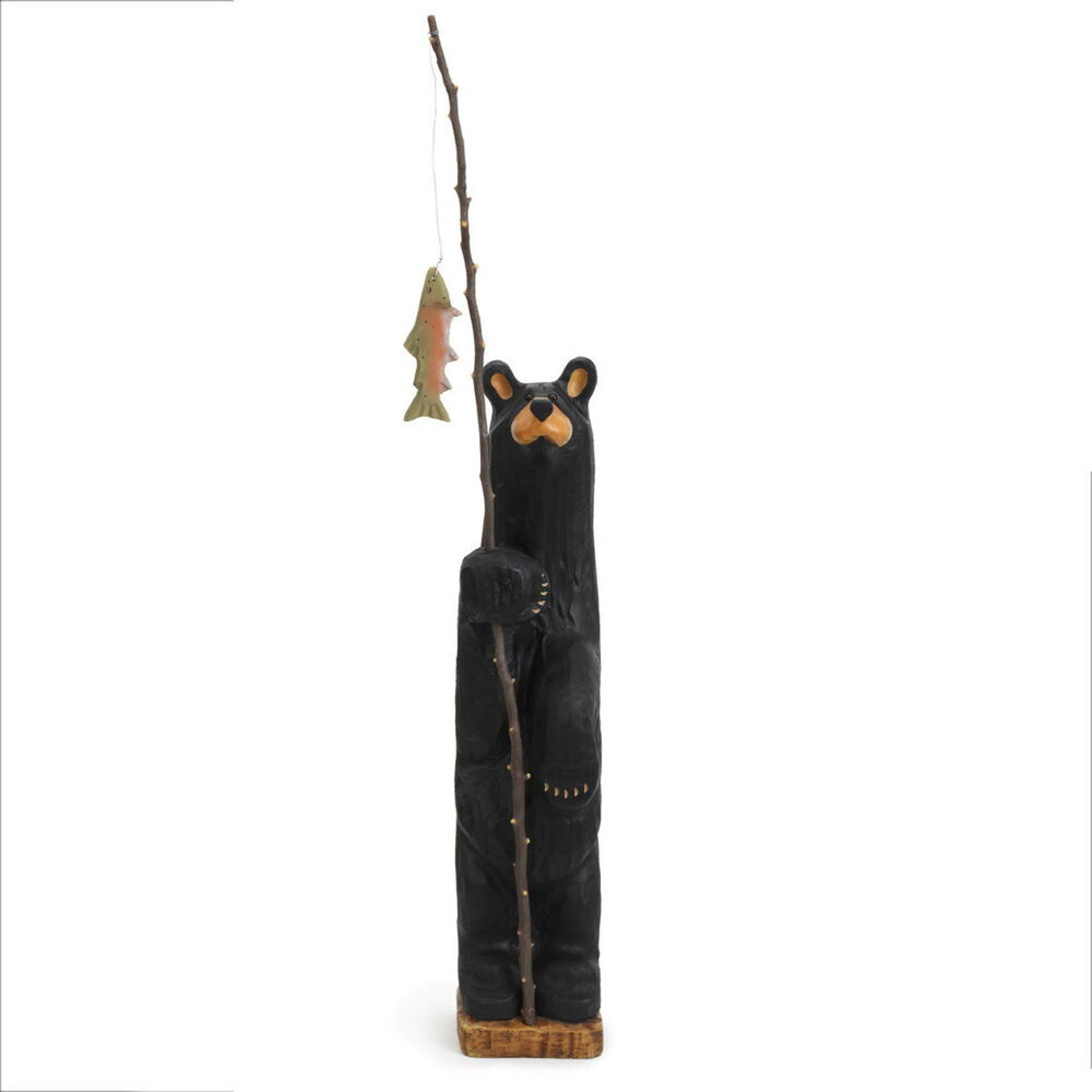 Big sky carvers bearfoots grand black fisher bear by