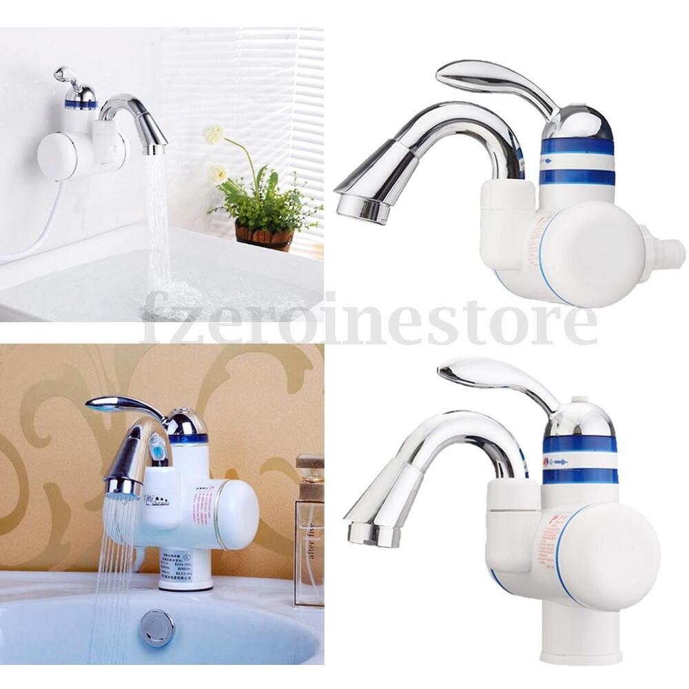elektrische armatur bad k che elektrisch wasserhahn durchlauferhitzer warmwasser ebay. Black Bedroom Furniture Sets. Home Design Ideas