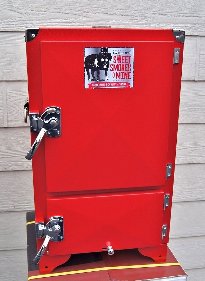 Red Box Bbq Cabinet Water Smoker Insulated Reverse Flow