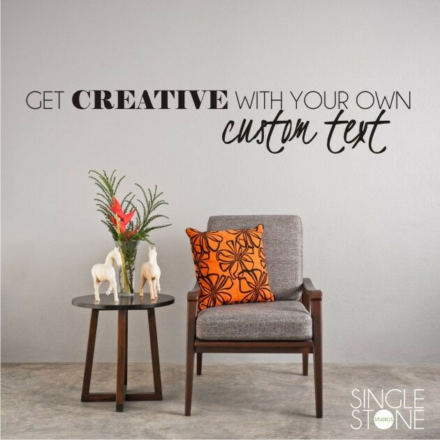 Wall Art Decals Make Your Own : Custom wall decal create your own vinyl sticker