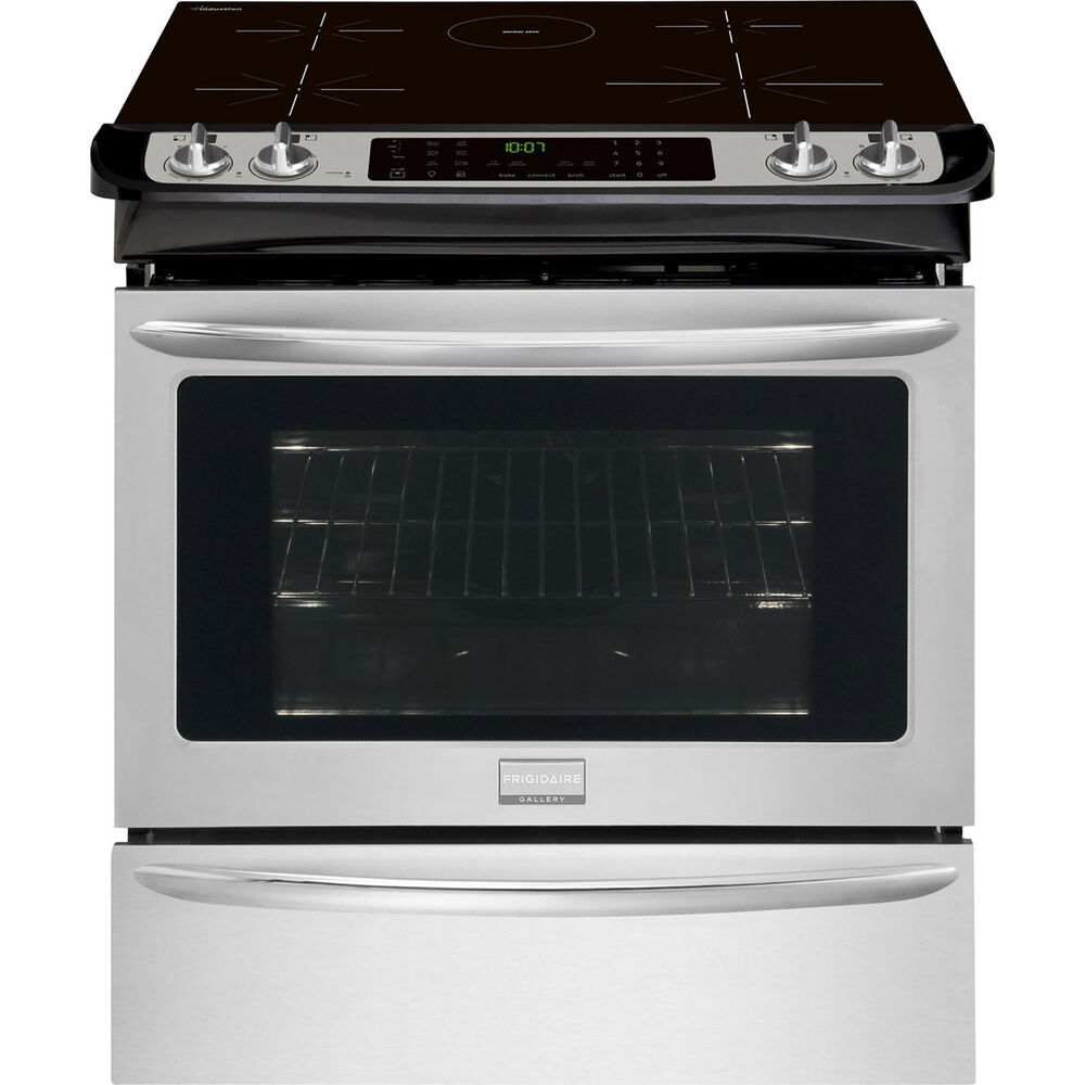 Frigidaire Electric Cooktop ~ Frigidaire stainless steel quot electric induction slide in