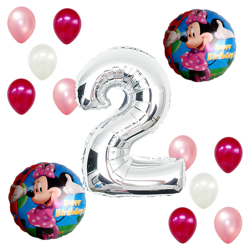 2nd Birthday Party Supplies Minnie Mouse Girl Pink Second
