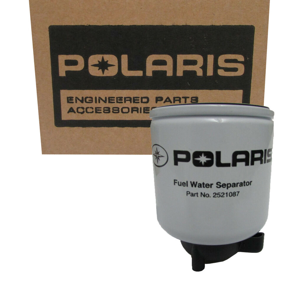 polaris new oem filter fuel water separator diesel 2521087