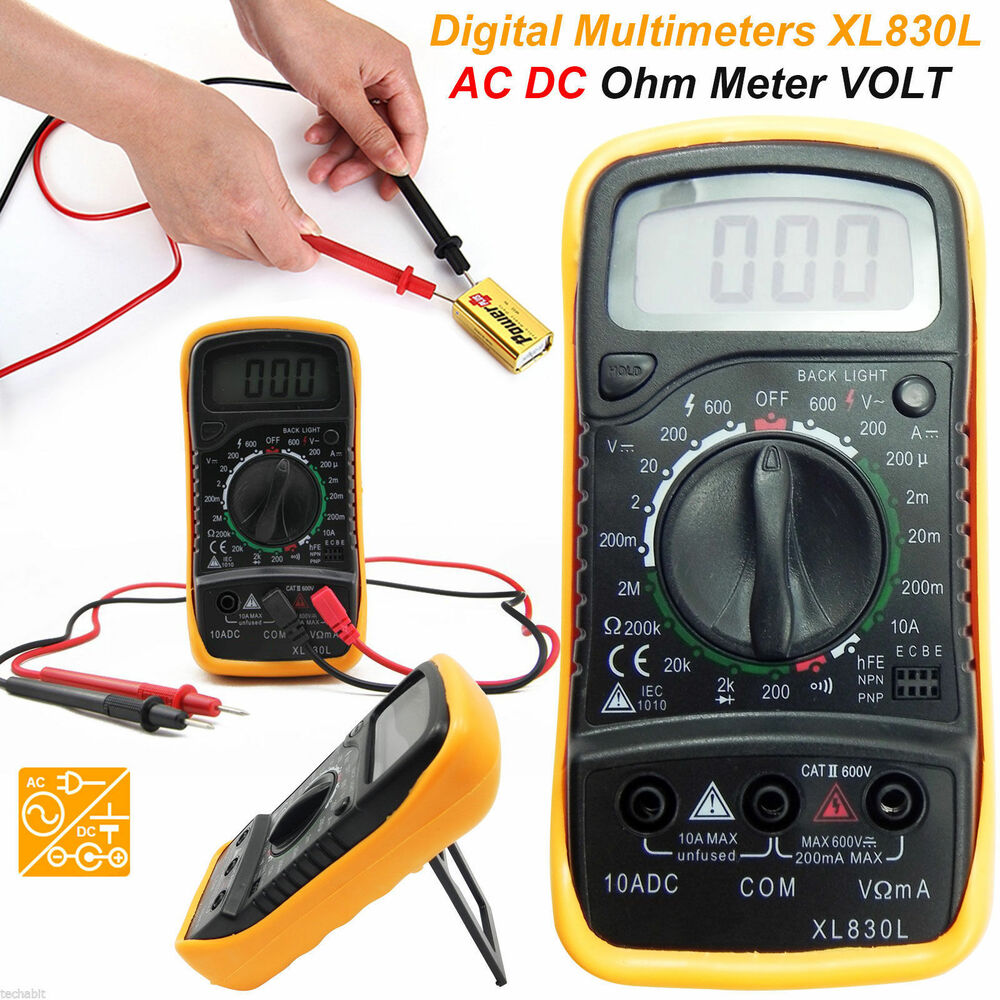 Ac Dc Digital Voltmeter Kit : Lcd digital multimeter voltmeter ac dc voltage tester
