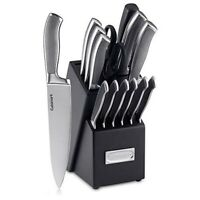 Cuisinart Graphix Collection 15-Piece Cutlery Set w/ Block, Stainless Steel