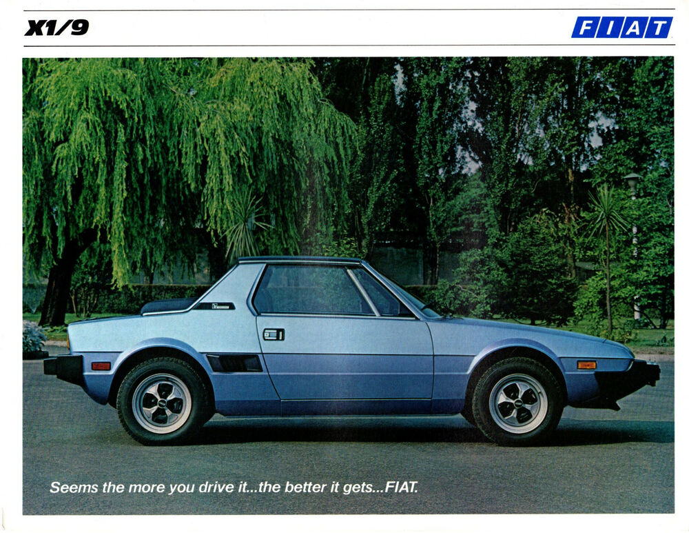 original 1979 fiat x1 9 bertone 5 speed sales brochure. Black Bedroom Furniture Sets. Home Design Ideas