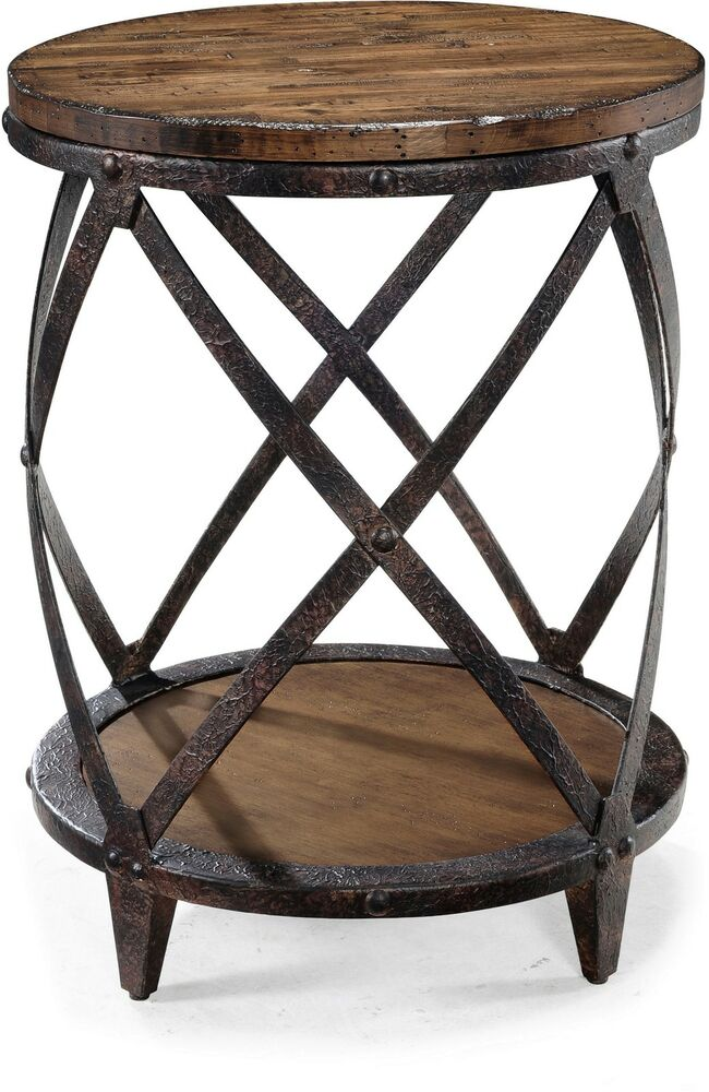 Iron And Wood Side Tables Living Room ~ Small accent tables nightstand round bedside cheap