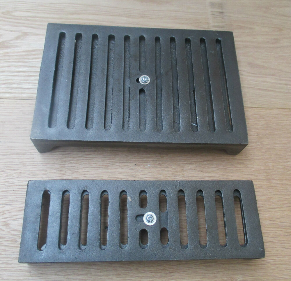 Cast Iron air Brick with Sliding Vent cover Repro -GRILL