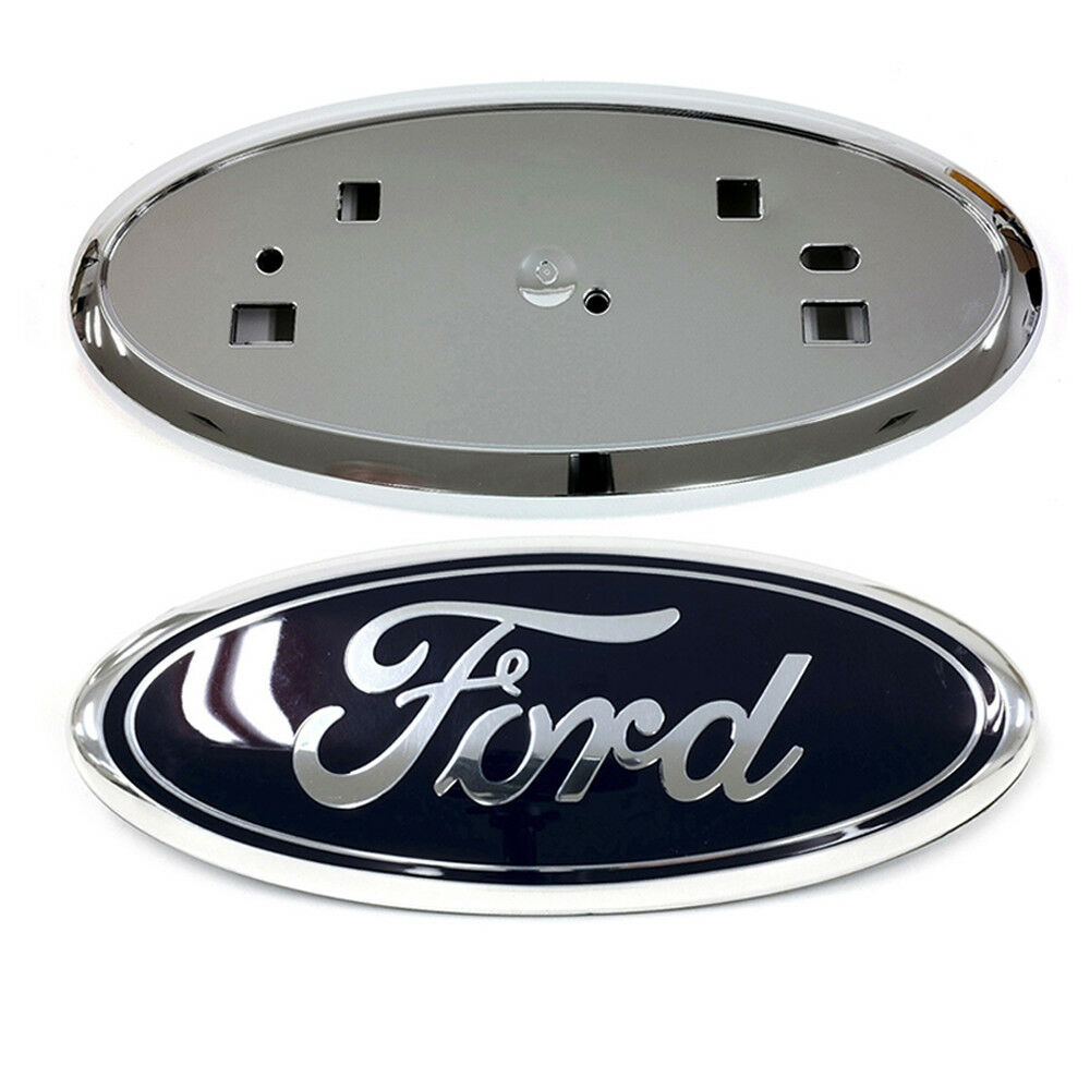 Ford Escape 2014 Custom >> 2011-2014 Ford Edge Front Grille Blue Emblem & Chrome Grill Holder Mount OEM NEW | eBay