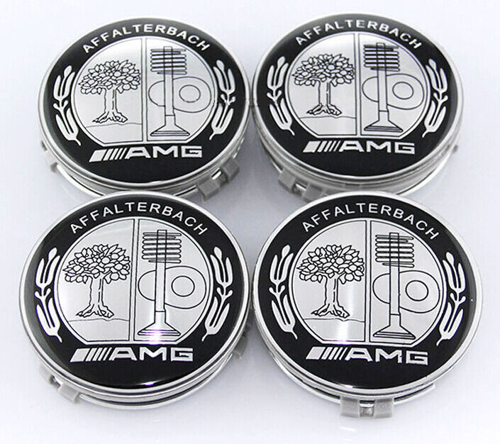 car wheel center hub caps emblem affalterbach clips amg 75mm auto t 369 ebay. Black Bedroom Furniture Sets. Home Design Ideas