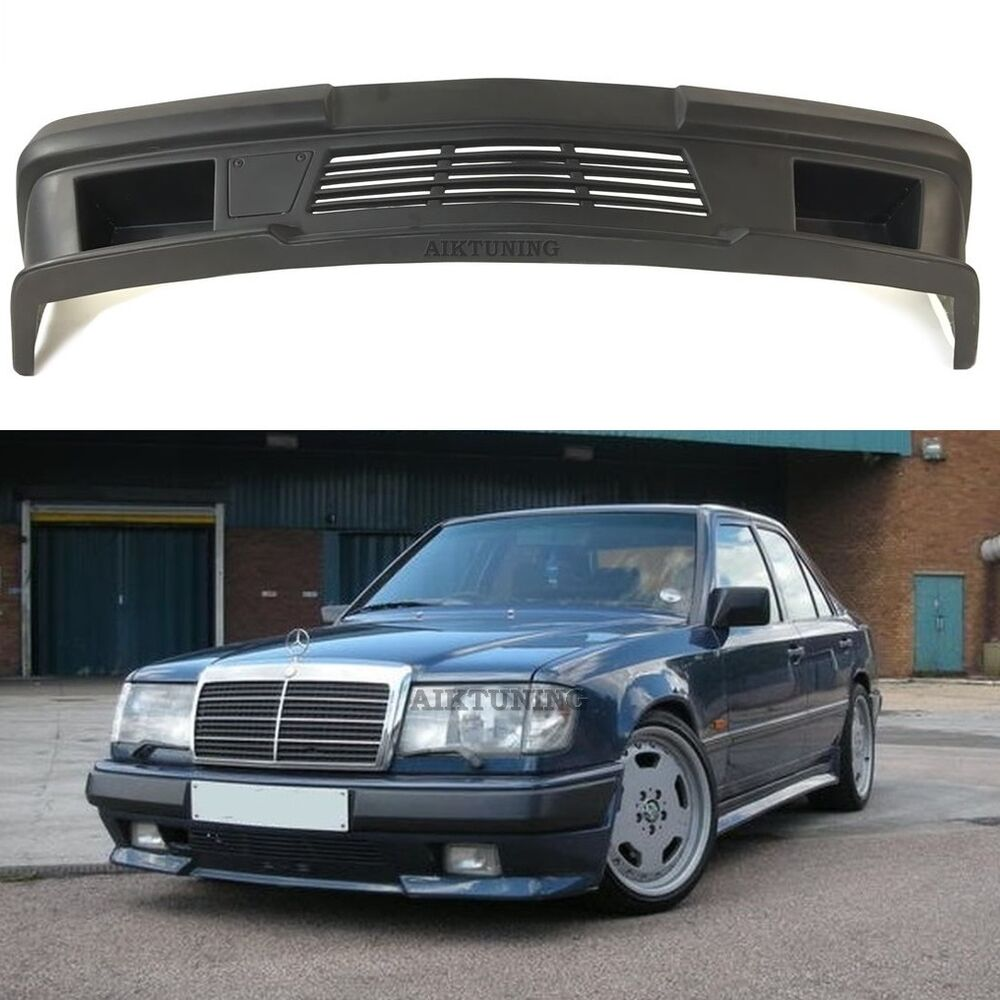 Mercedes benz w124 amg 2 style full front bumper spoiler for Mercedes benz parts ebay