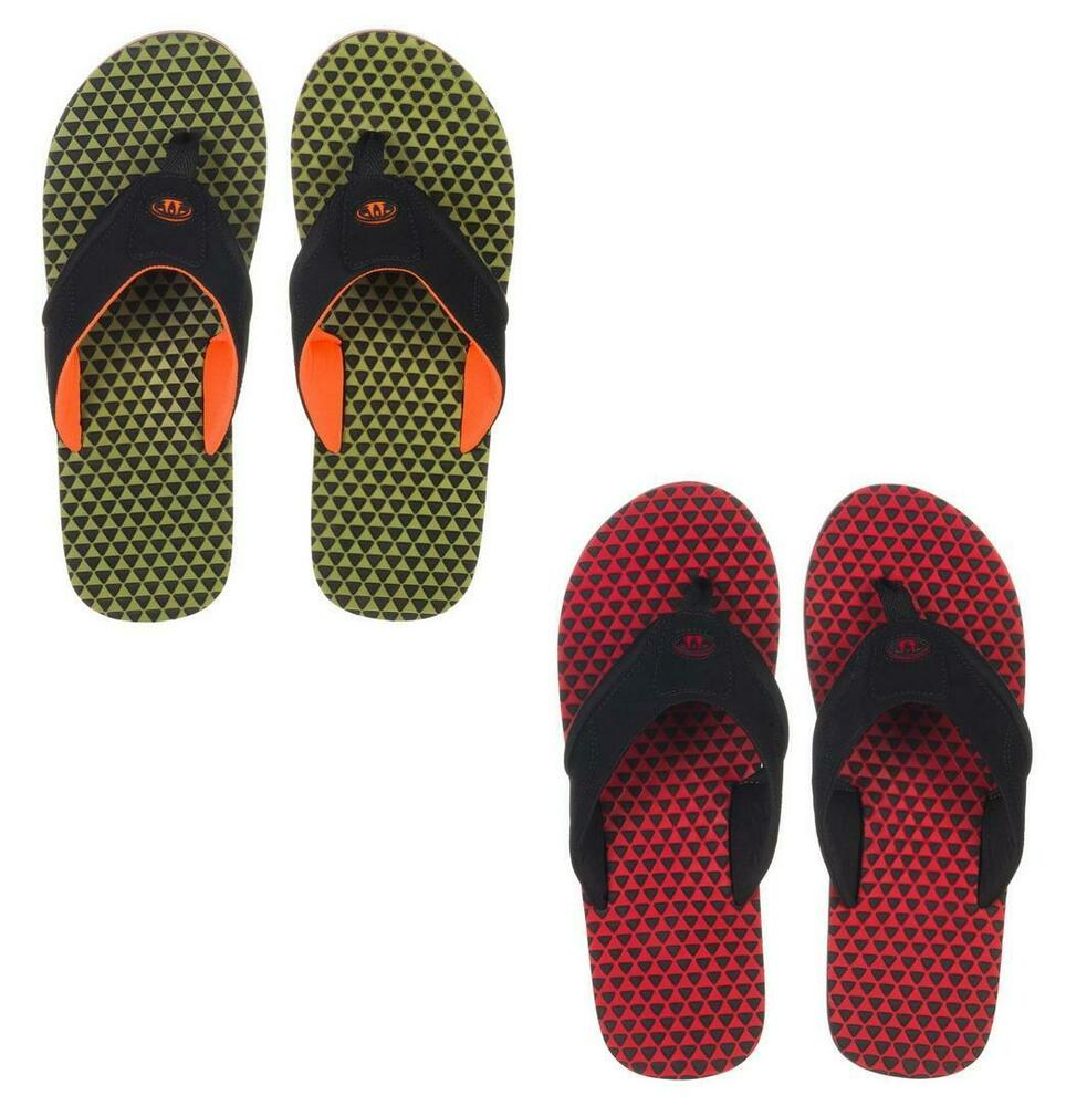 a65759530 MENS ANIMAL FLIP FLOPS.  JEKYL RIPPLE  RED OR OLIVE. UK 8-13