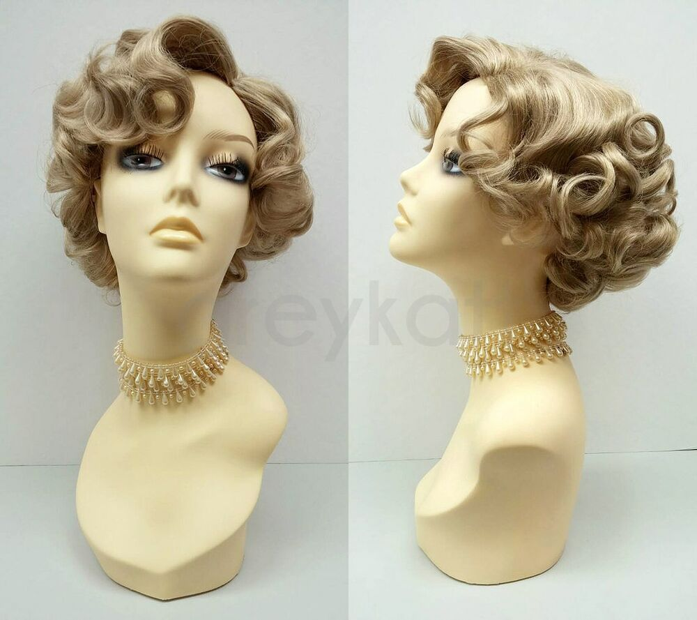 Short Blonde Curly Wig #24 Old Hollywood Pin Curls Vintage ...