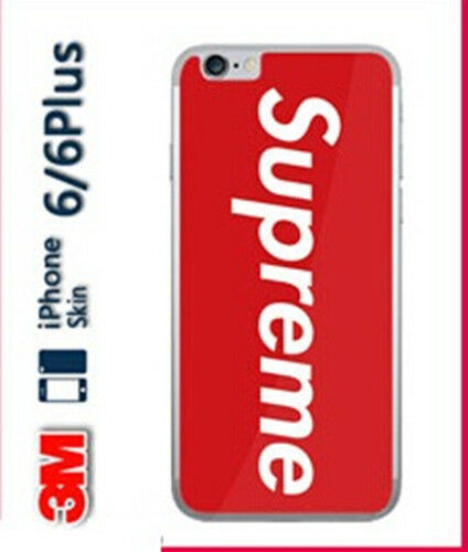 supreme logo red cell phone sticker decal for iphone 6 6s. Black Bedroom Furniture Sets. Home Design Ideas