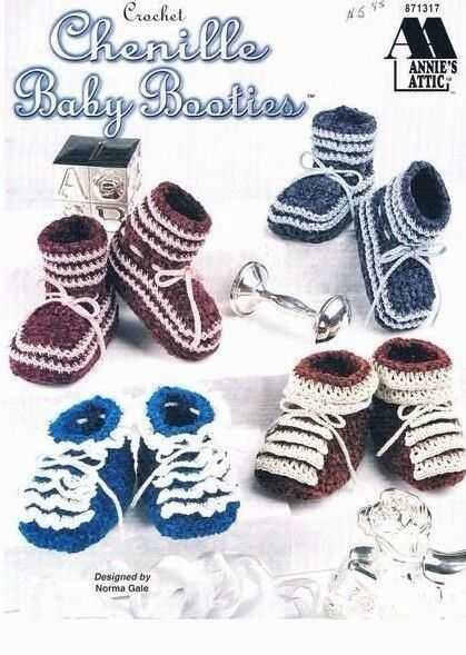Chenille Baby Booties Annie S Attic Clothes Crochet