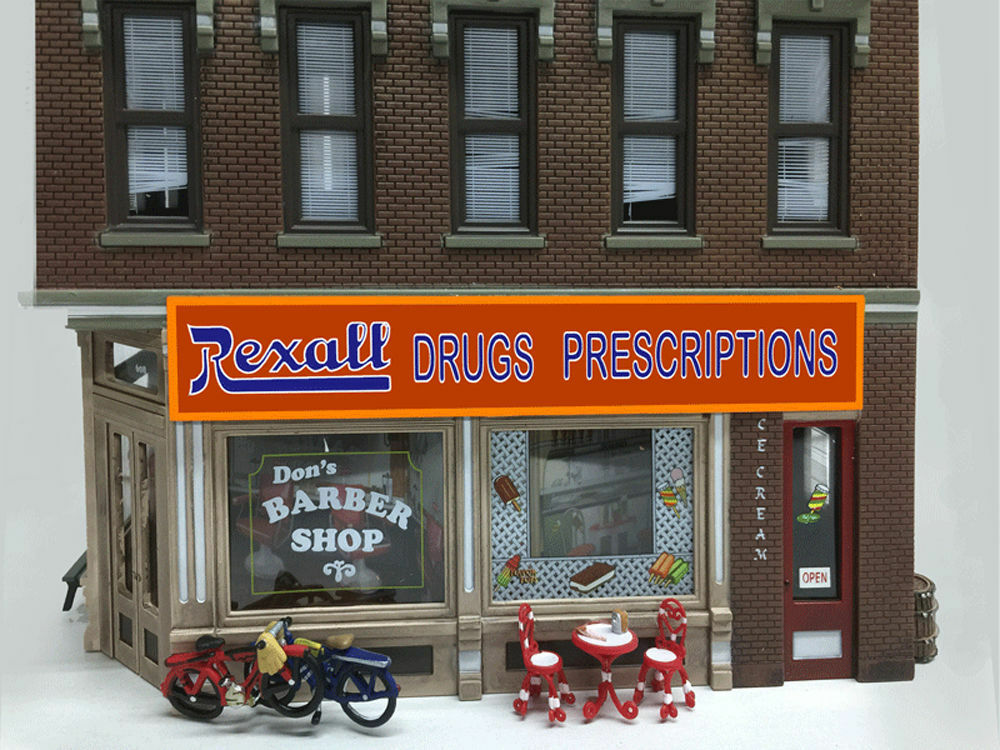rexall drugs animated sign  88 o scale miller engineering new