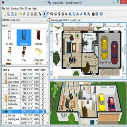 Sweet Home 3d Home Interior Design Cad Software Suite For Windows And Mac Ebay