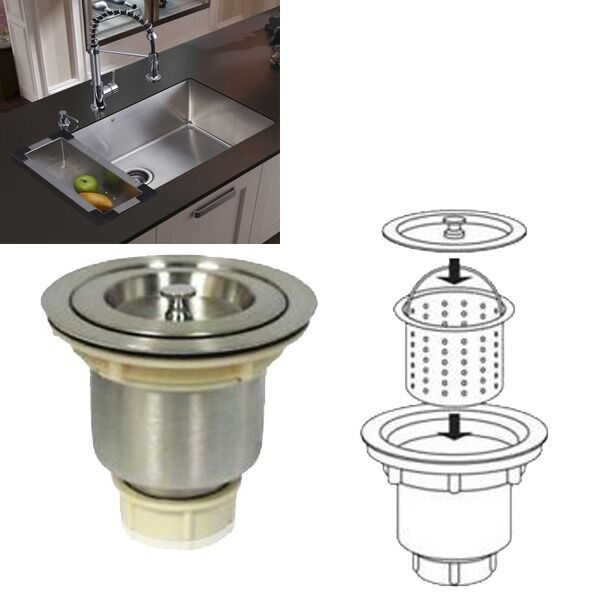 kitchen sink drain stainless steel kitchen bar sink strainer drain basket 2679