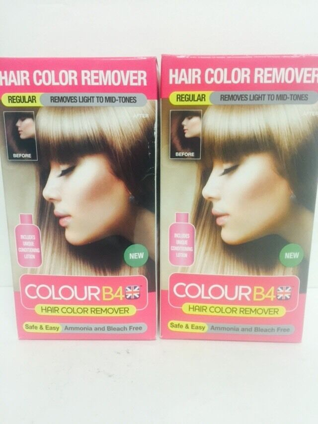 2 Boxes Of Colour B4 Hair Color Remover Removes Unwanted Dye From