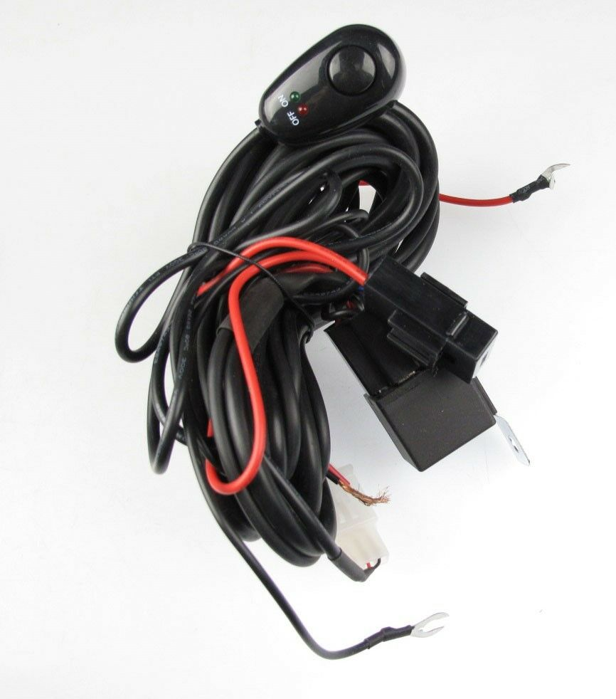 universal wiring kit driving lamps fog light wiring ... flashlight wire harness nos launcher 8 pin wire harness #14