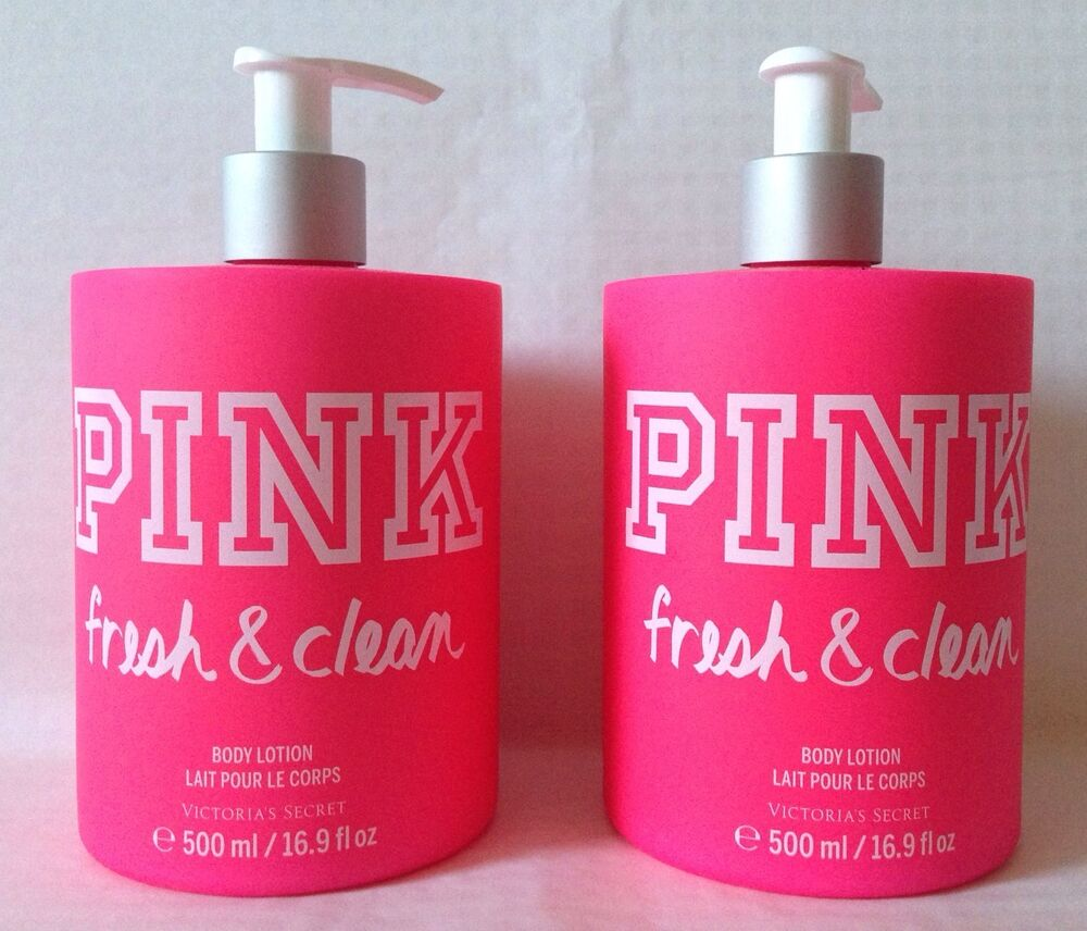 2 victoria 39 s secret pink body lotion fresh clean 16 9 fl. Black Bedroom Furniture Sets. Home Design Ideas