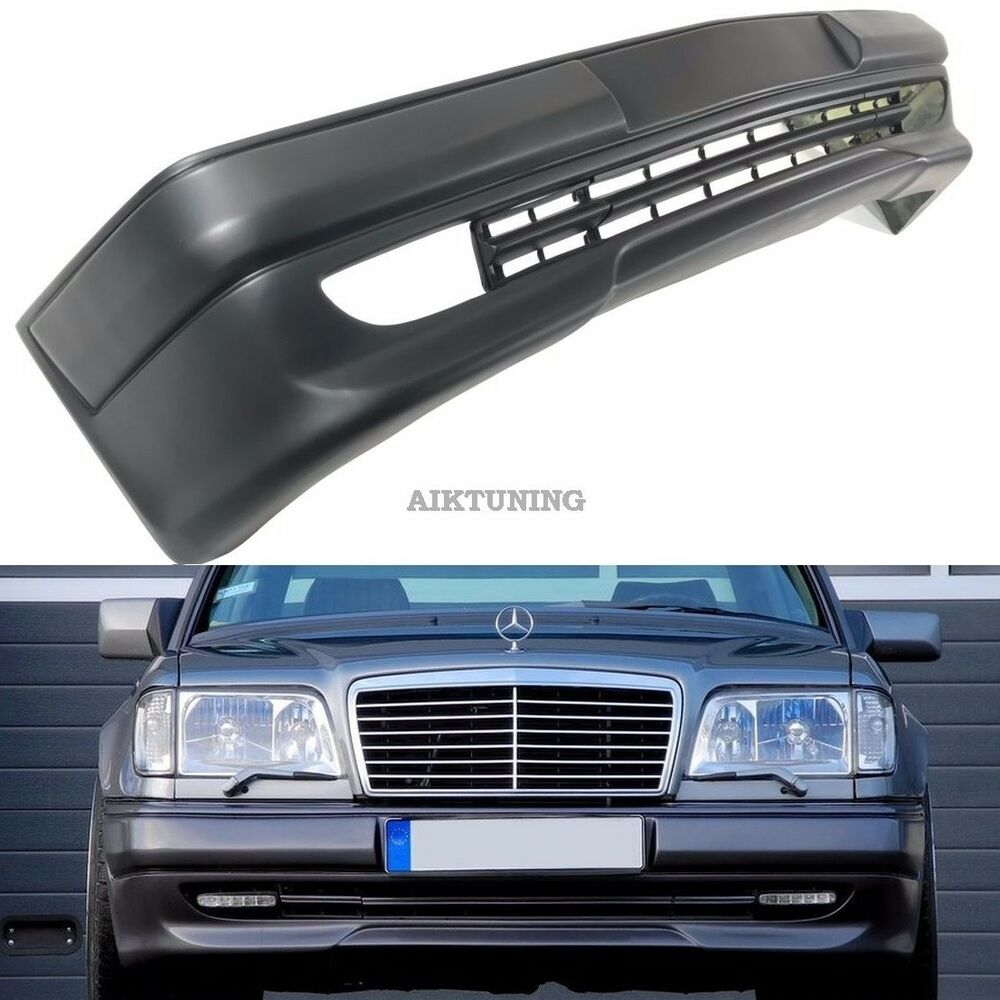 Mercedes benz w124 amg 3 style full front bumper spoiler for Mercedes benz 190e front bumper