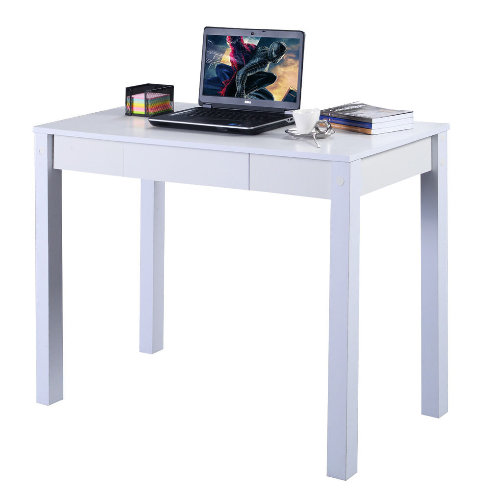 COSTWAY Study Desk Computer Table Drawer Modern Decor