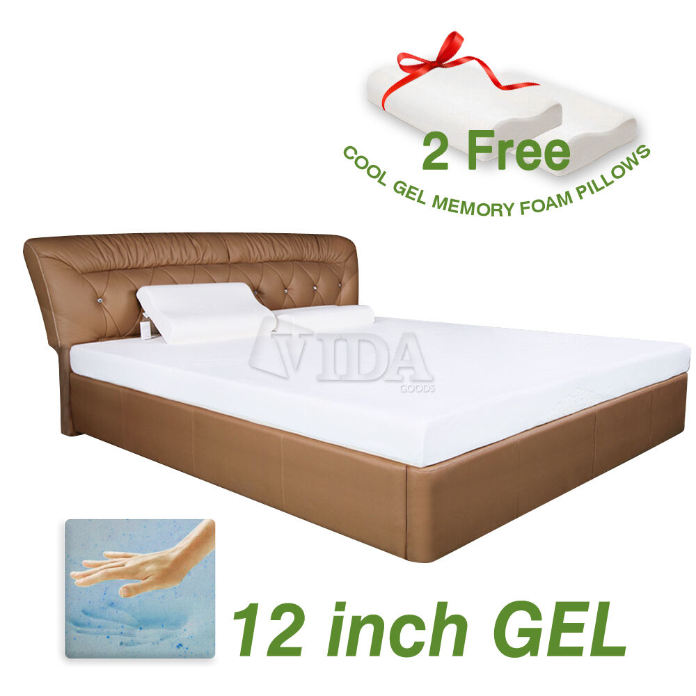 12 Inch Cool Medium Memory Foam Mattress Twin Full Queen King Ebay
